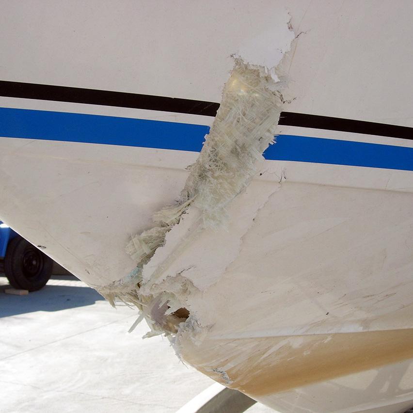 Mach Boats Fiberglass Repair